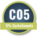 5% Curtailments