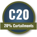 20% Curtailments